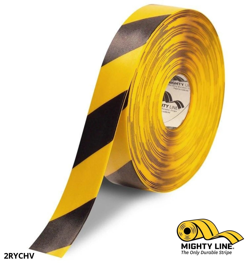 Mighty Line 2inch black-yellow tape