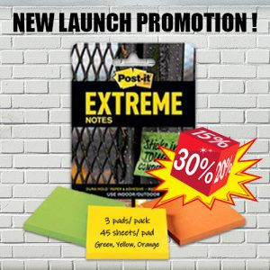 Post-it Extreme Notes Promotion