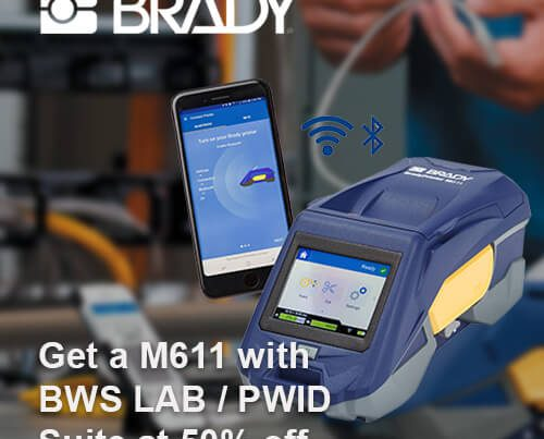 Brady M611 with BWS Lab or PWID Suite at 50% Off