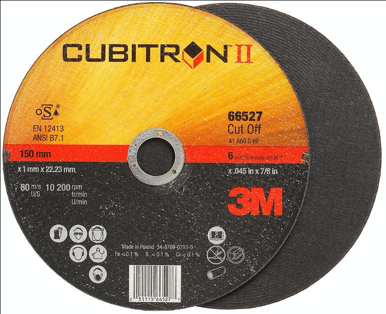3M™-Cubitron™-II-Cut-Off-Wheel-65502-S41-100-mm-X-1-mm-X-15.88mm