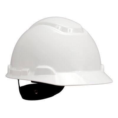 3M Hard hat white 4-point ratchet suspension H-701R