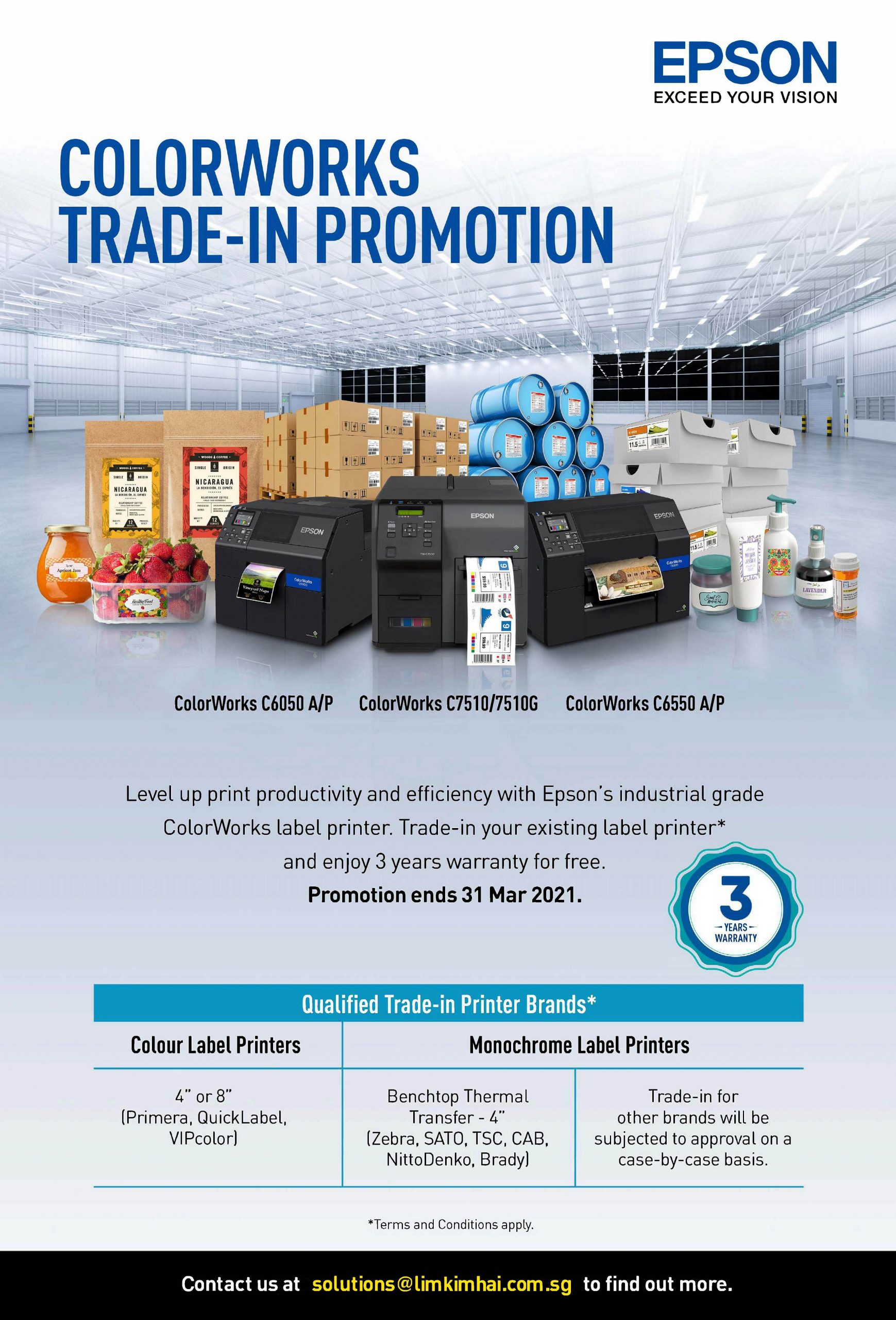Epson ColorWorks Trade-In Brochure